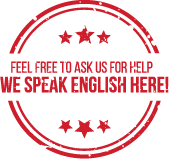 Feel free to ask us for help, We speak english here!